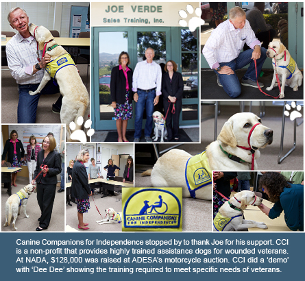 Canine Companions Thank Joe For Ongoing Support Joe